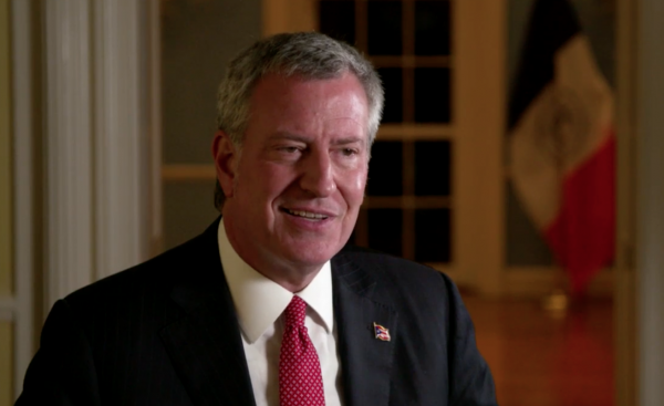 NYC Mayor de Blasio talks climate change | Miles O'Brien Productions