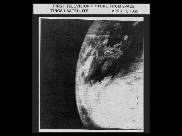 First photo beamed down from a weather satellite | Miles O'Brien Productions