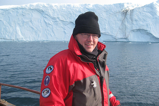 David Holland in Greenland. Credit: New York University. | Miles O'Brien Productions