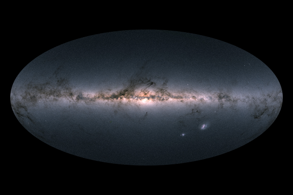 Gaia's star chart in full color. Simply gorgeous! Credit: ESA/Gaia/DPAC. | Miles O'Brien Productions