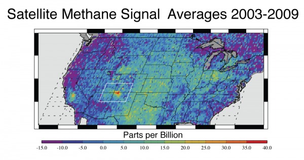 Methane monitoring with the European Space Agency's SCIAMACHY instrument. We'll be covering all of this soon! Credit: NASA | JPL-Caltech | University of Michigan. | Miles O'Brien Productions