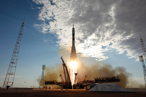 A Soyuz launch in 2012, which successfully delivered an international crew to the ISS. Credit: NASA/Carla Cioffi. | Miles O'Brien Productions